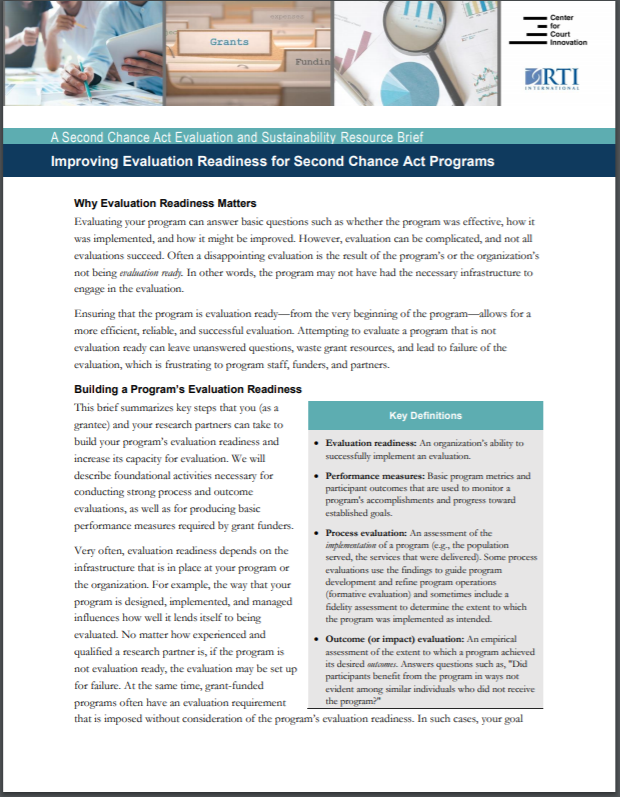 Home page of evaluation readiness guide