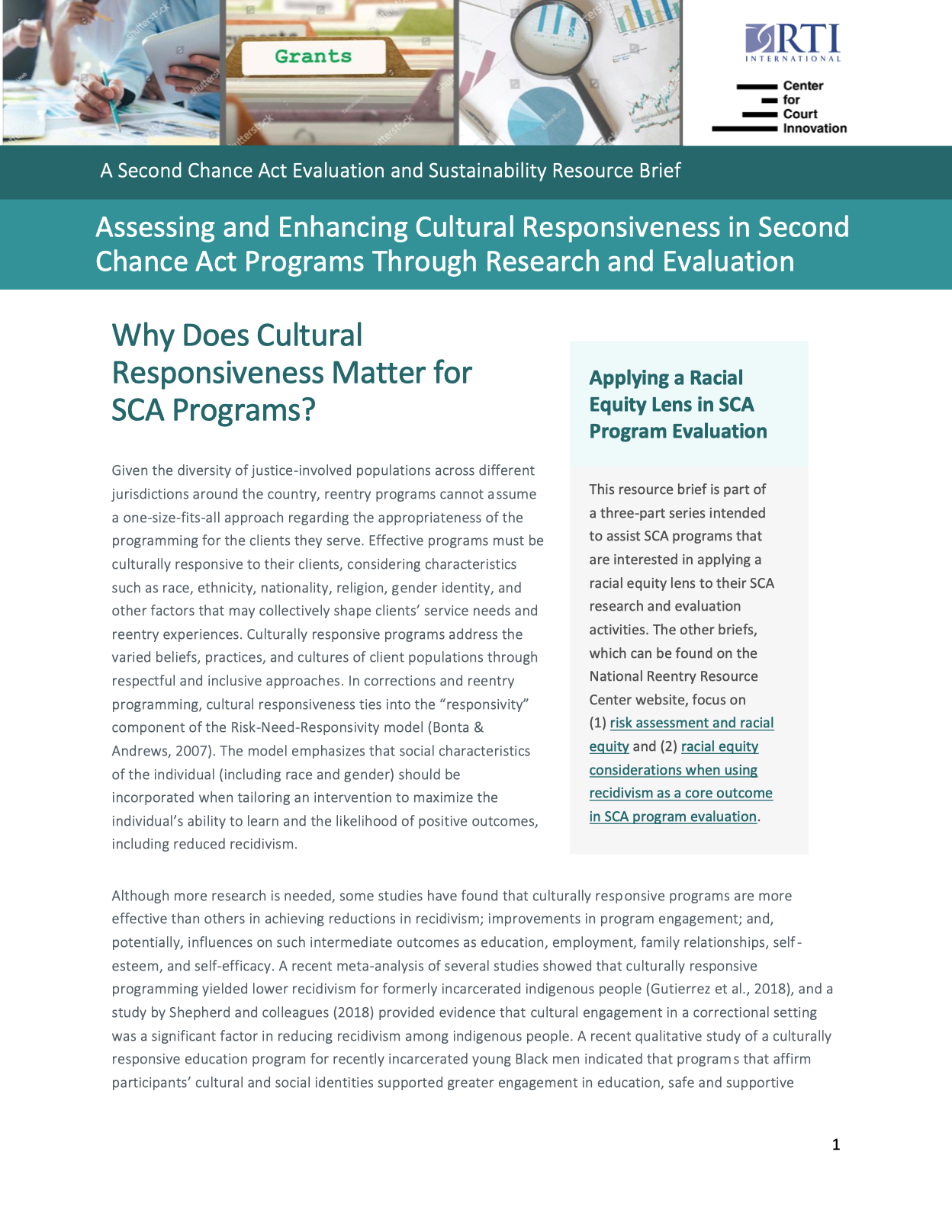 Assessing and Enhancing Cultural Responsiveness brief cover image