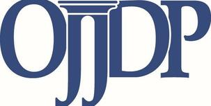 blue ojjdp logo on white background