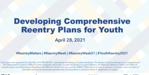 Developing Comprehensive Reentry Plans for Youth webinar slide image