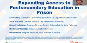 Expanding Access to Postsecondary Education in Prison