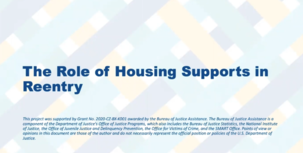 Webinar: The Role of Housing Supports in Reentry slide image