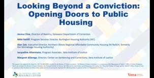 Looking Beyond a Conviction: Opening Doors to Public Housing webinar screenshot