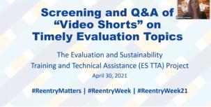 Evaluation Video Shorts webinar slide image