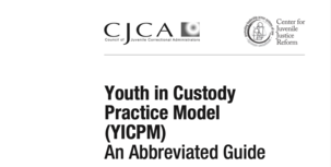 Youth in Custody Practice Model Guide cover image